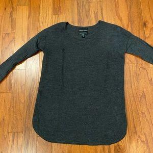 Cynthia Rowley gray long sweater size M